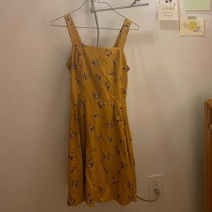 Yellow Floral Printed Dress (Size S)